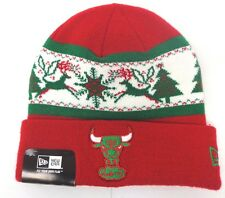 Chicago Bulls Men's New Era Christmas Fillz Knit Cap Beanie