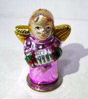 Christmas Angel Ceramic Miniature Decorative Figurine vintage 1990s
