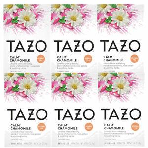 Tazo Calm Chamomile Tea Bags Decaf Herbal Tea Caffeine Free 20 ct (Pack of 6)