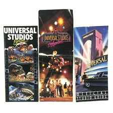 3 Vintage Universal Studios Florida Park Brochures 1980s ET Jaws Hollywood maps