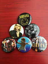 "1.25"" Nirvana pin back button set of 6"