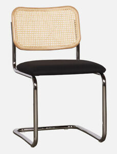 KNOLL CESCA ARMLESS CHAIR – BLACK UPHOLSTERED SEAT