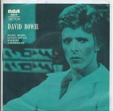 "DAVID BOWIE Aussie 7"" EP Rebel Rebel~Sorrow~Amsterdam~Queen Bitch, mid 70s"