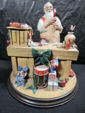 "Heirloom Norman Rockwell "" Santa Workshop "" Statue - Exquisite - Numbered In Box"