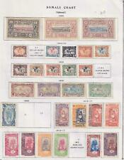 SOMALI COAST  INTERESTING COLLECTION ON ALBUM PAGES - Y354