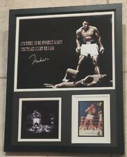 MUHAMMAD ALI LE AUTHENTIC Signed Autographed FRAMED 11X14 BOXING PHOTO PSA JSA