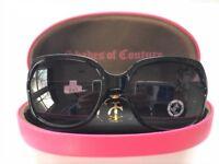 Juicy Couture Black sunglasses 3pc Set Pink case logo cleaning cloth fashion Nib