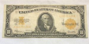 Series 1922 Ten Dollars $10 Large Size Gold Certificate Note