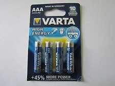 4x AAA High Energy Batterie Alkali-Mangan LR03 1260mAh 1,5V Varta AR1283
