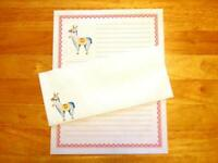 Llama Stationery Writing Set 12 Sheets 6 Envelopes - Lined Stationary