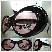 CLASSIC VINTAGE 50's RETRO Style SUN GLASSES Small Oval Fashion Frame Pink Lens