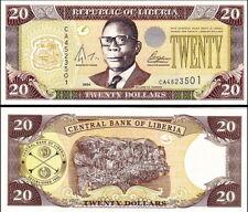 LIBERIA - 20 dollars 2004 FDS - UNC