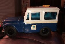 VINTAGE US MAIL JEEP COIN BANK 1970s WESTERN STAMPING CORP BLUE