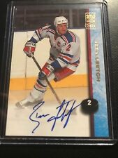 1998 99 Topps Certified Autograph #A9 Brian Leetch NY Rangers Mint