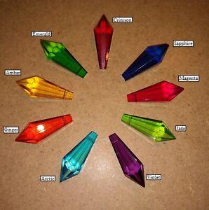 Kyber Crystal Cosplay Glass Prism Lightsaber Necklace