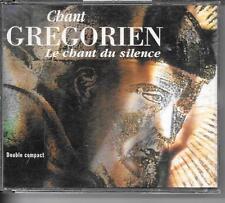 COFFRET 2 CD COMPIL 25 TITRES--CHANT GREGORIEN - LE CHANT DU SILENCE