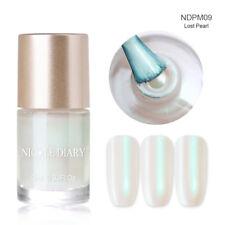 9ml NICOLE DIARY Nail Polish Water Based Pearl White Nail Art Varnish Polish M09