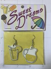 Lemonade earrings Sweet Dreams Summer lemon pitcher