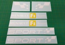 Renault Clio Twingo Megane Sport Coupe RS GT 225 182 Trophy F1 decals stickers