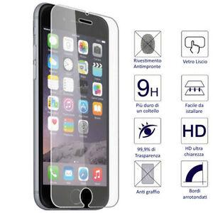 PELLICOLA VETRO TEMPERATO APPLE IPHONE 6 6S 6 PLUS  SE PROTEGGI DISPLAY