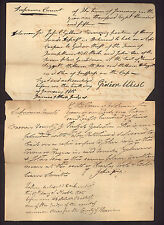 two signed 1815 New York Supreme Court documents * Warren County * Gidion Wiest