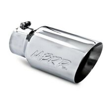 "MBRP T5072 Dual Wall Angled Exhaust Tip 4"" Inlet 6"" Outside Dia. 12"" Length"