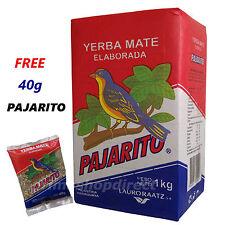1 kg YERBA MATE PAJARITO ELABORADA TEA plus 40g FREE PAJARITO PACK