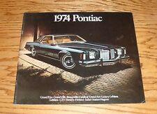 Original 1974 Pontiac Full Line Deluxe Sales Brochure 74 Firebird GTO