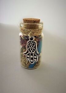 Witch Bottle spell Kit for Protection Magical Herb Spell Talisman Hamsa Hand