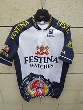 VINTAGE Maillot cycliste FESTINA Tour de France 1996 Virenque maglia shirt L