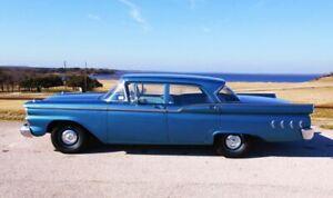 1959 Ford Fairlane and Custom 4 door sedan, wagon door weatherstrip kit. F & R