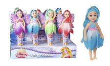 4Pk Colourful Fairy Princess Dolls Figurines Set Girls Party Bag Filler Toys
