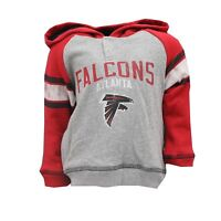 Atlanta Falcons NFL Official Toddler Size Distressed Hooded Sweatshirt New Tags