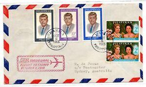 PHILIPPINES Flight MANILA to SYDNEY October 6, 1966 Kennedy PAL Inaugural