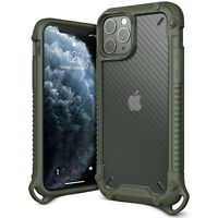 For iPhone 11/ Pro/ Max Case VRS® [Crystal Mixx Pro] Carbon Pattern Clear Cover