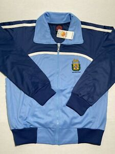 Argentina Soccer Zip Track Jack Premium Quality All Sizes NWT