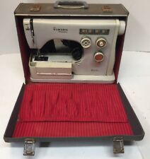 Vintage Husqvarna Viking 6020 Sewing Machine With Case and Original Pedal SWEDEN