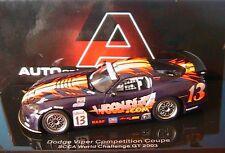 1 43 Dodge Viper Compétition Coupé SCCA 2004 Woodhouse.com N° Réf. 13 Autoart