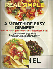 Real Simple October 2011 Month of Easy Dinners/Organize Small Stuff/Anti-Aging
