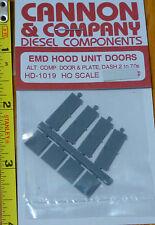 Cannon & Company #1019 EMD Hood Unit Doors Alt. Comp. Door & Plate, Dash 2 - 70s