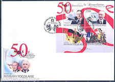 TOGO 2012 50th  ANNIVERSARY OF FRANCE GERMANY de GAULLE & ADENAUER SHT FDC