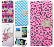 For HTC Desire 510 Premium Leather Wallet Pouch Flip Cover Accessory