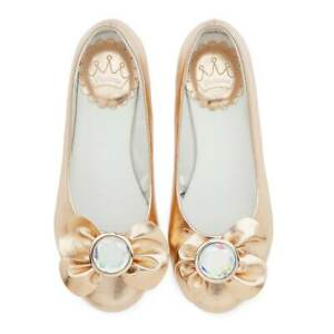 Disney Store Princess Fancy Dress Shoes Gold Dress Up Party Footwear Costume NEW