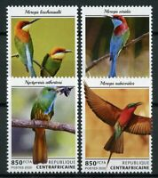 Central African Rep Birds on Stamps 2020 MNH Bee-Eaters Bee-Eater 4v Set
