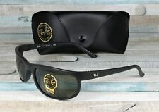 RAY BAN RB2027 W1847 Predator 2 Matte Black Crystal Green 62 mm Men's Sunglasses