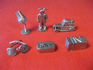 MONOPOLY A CHRISTMAS STORY GAME PIECES TOKENS SET OF 6 PEWTER
