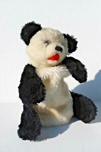 Vintage Steiff Circa 1970's Steiff Soft Plush Panda Pajama Bag with Button