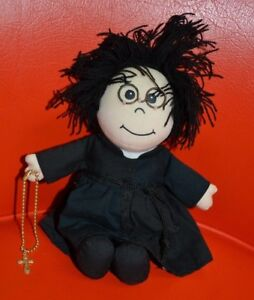 "Abbey Press Plush Father Sermon Says Doll Stuffed Priest New 7.5"" Tall Catholic"