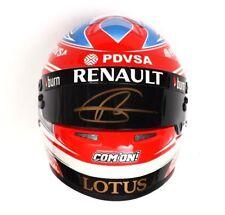 SIGNED 2014 F1 1/2 Helmet ROMAIN GROSJEAN Signed Lotus SPORTS Europe