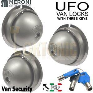 Meroni ME8080 UFO Van Door Locks Three Same Key KA Gates Sheds Glass Doors